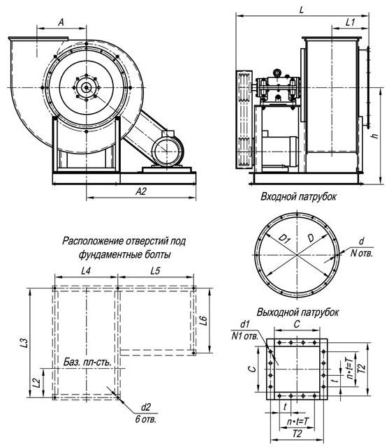 вентиляторов ВР 80-75,